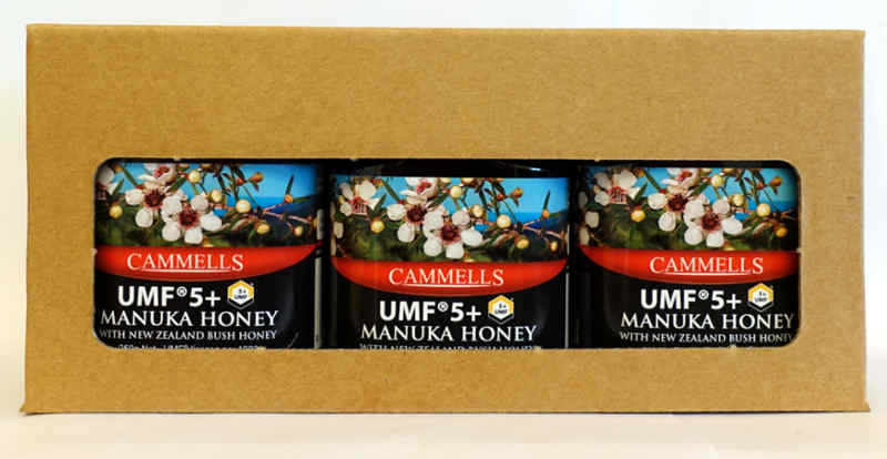 3 x UMF® 5+ 250gm Jar Gift Pack